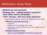 mobilization grass roots