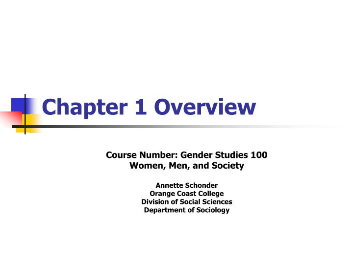 chapter 1 overview n.