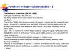 feminism in historical perspective 1