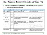 15 a payment terms in international trade 11