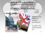 introduction to course foundations of comparative politics17