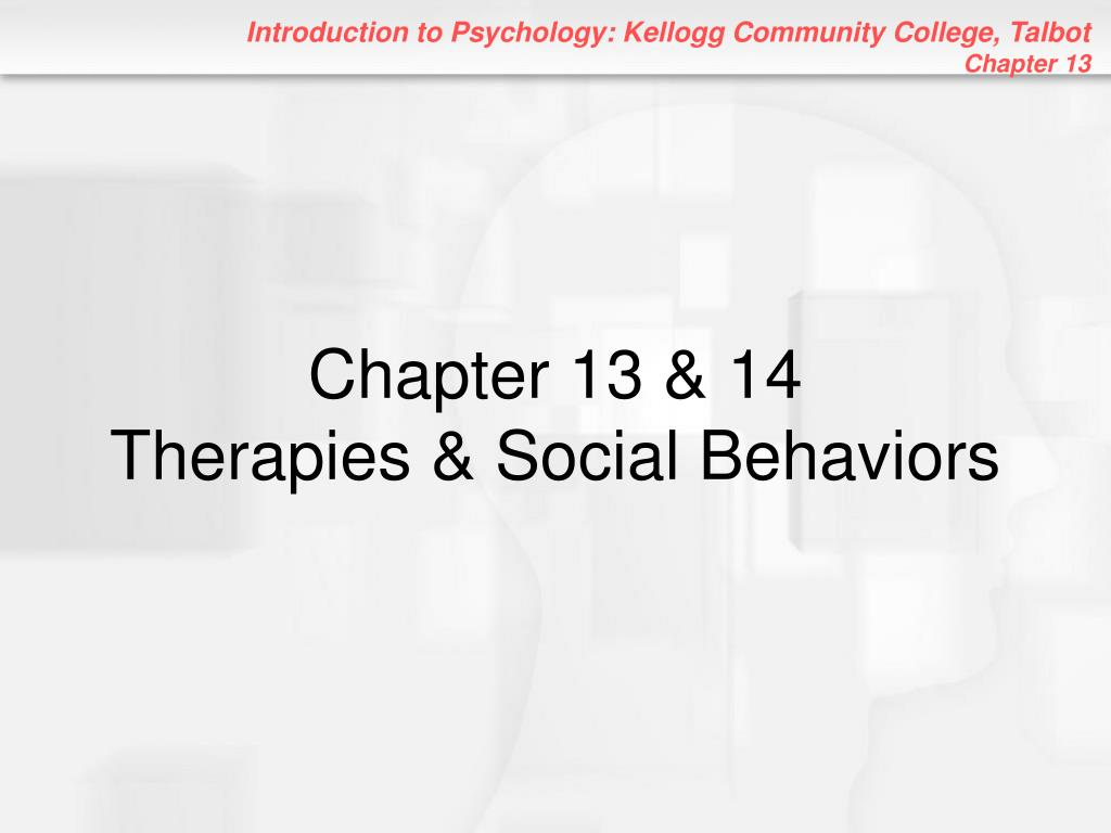 chapter 13 14 therapies social behaviors l.