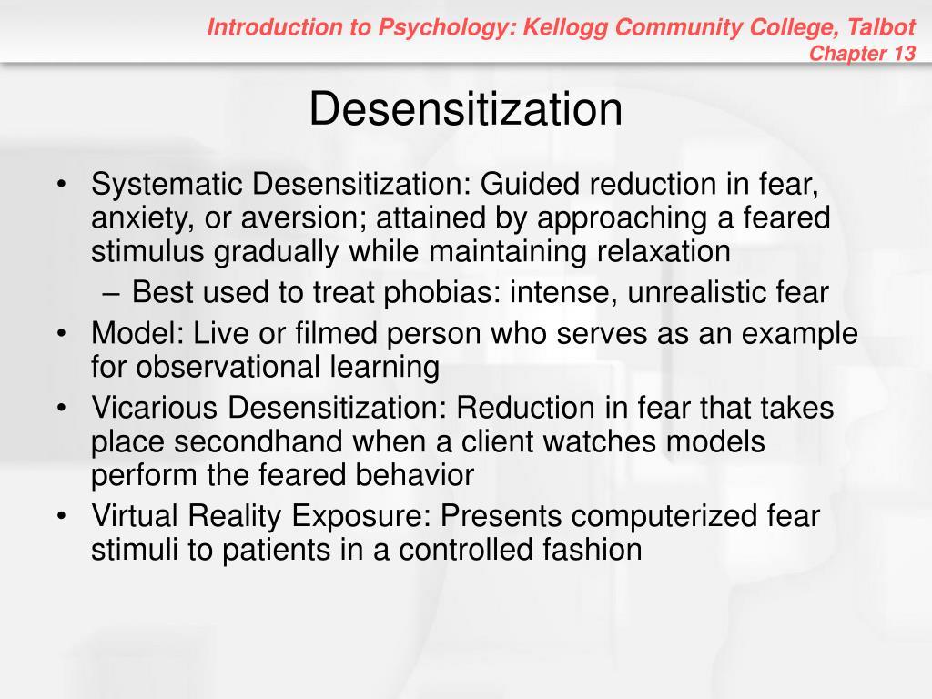 Desensitization