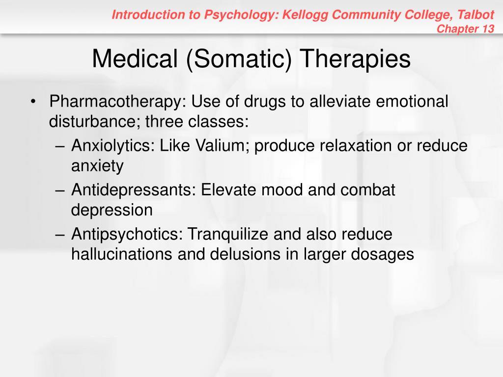 Medical (Somatic) Therapies