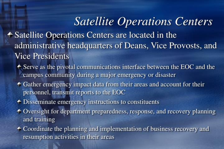 Satellite Operations Centers