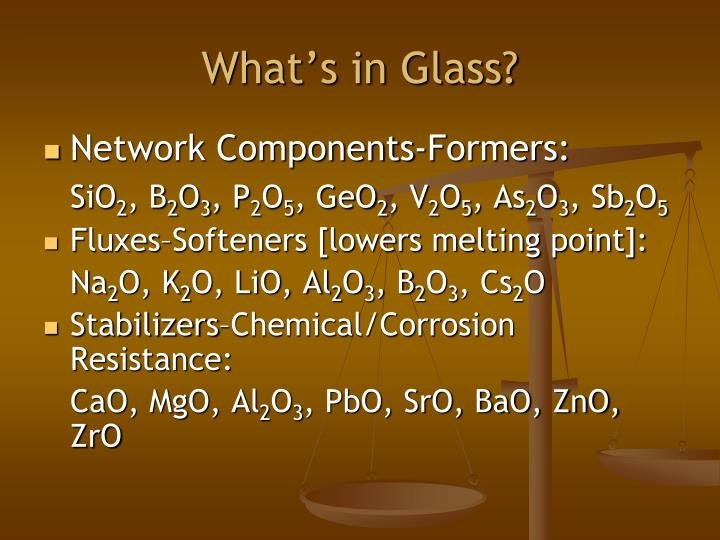 What's in Glass?