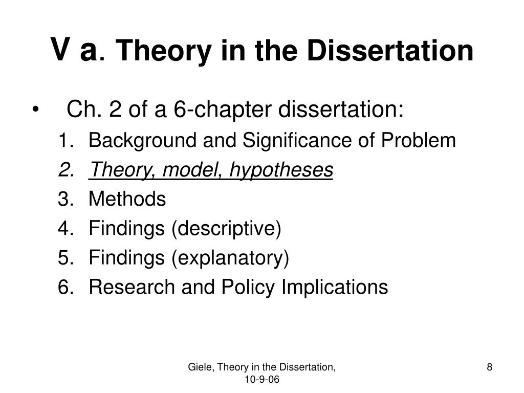 implications chapter dissertation