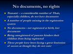 no documents no rights
