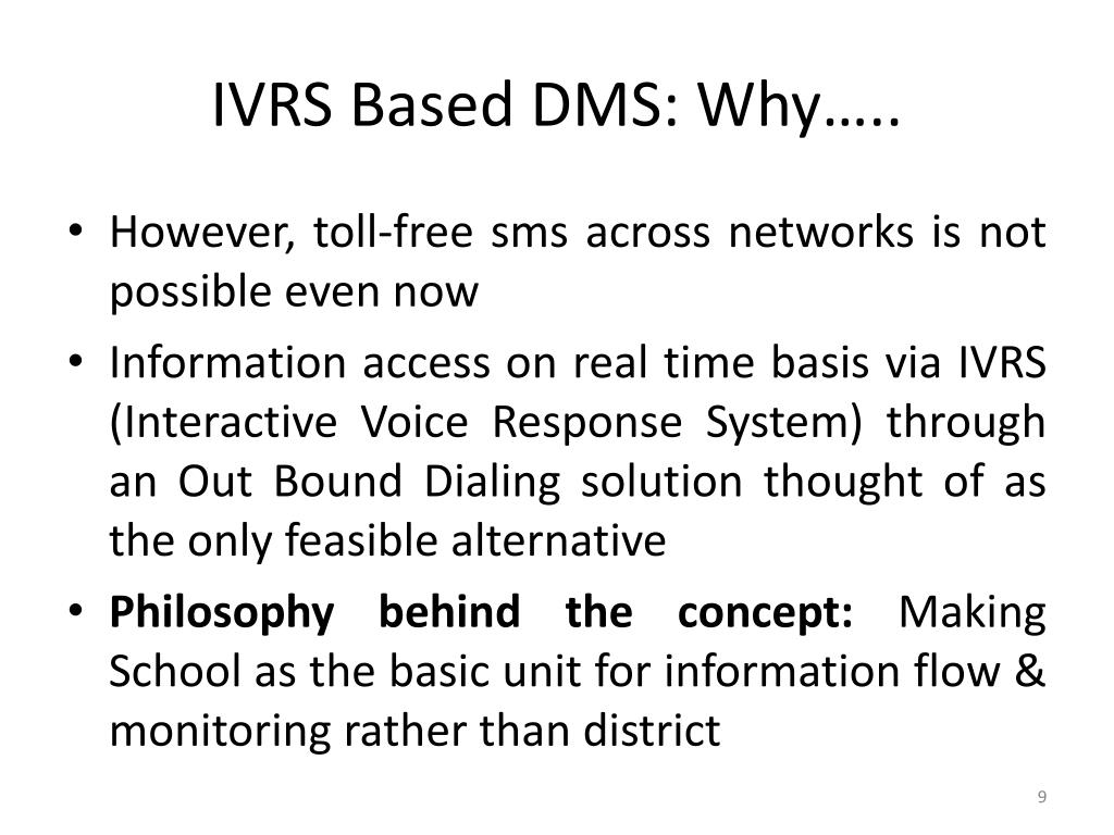 Ppt Ivrs Based Daily Monitoring System Of Mid Day Meal