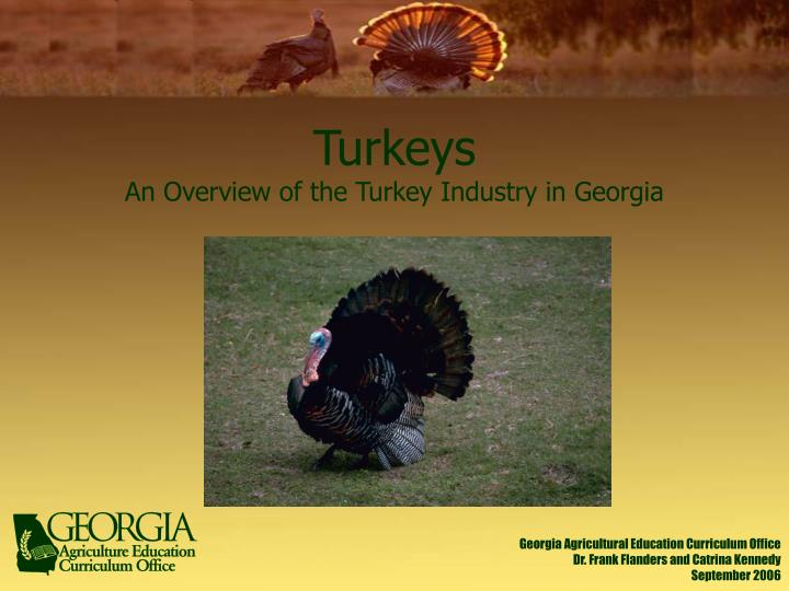 turkeys an overview of the turkey industry in georgia n.
