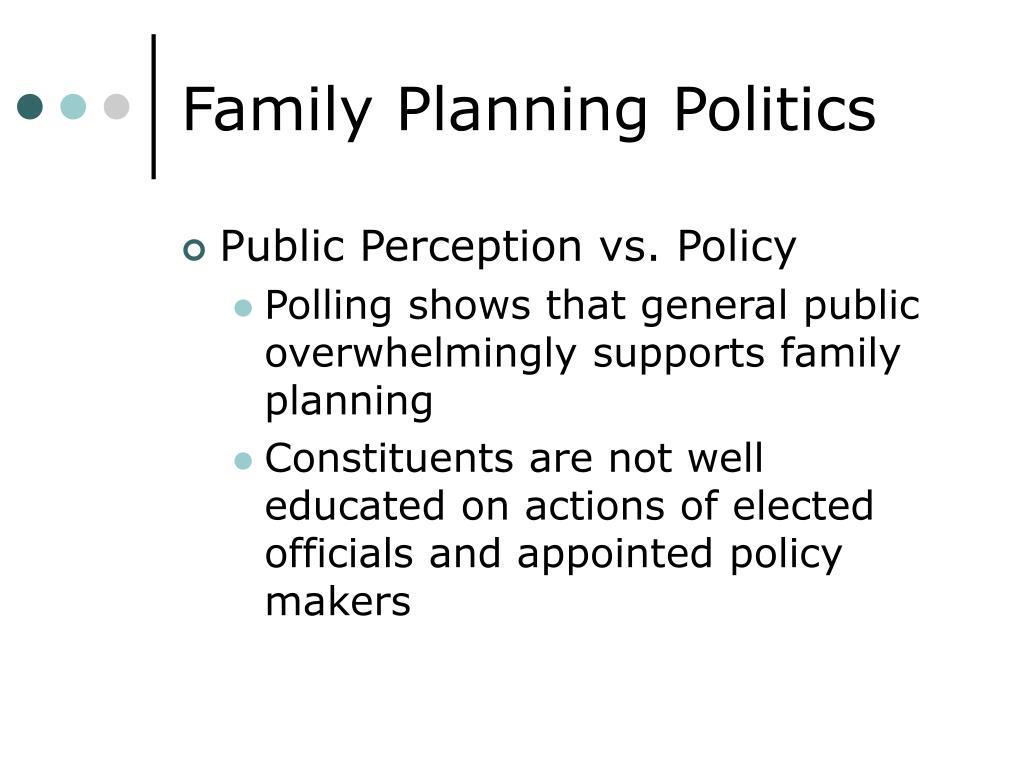 Family Planning Politics