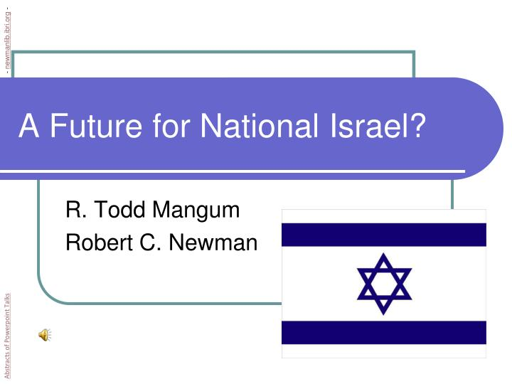 a future for national israel n.