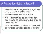 a future for national israel1