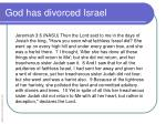 god has divorced israel1
