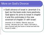 more on god s divorce