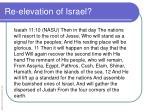 re elevation of israel1