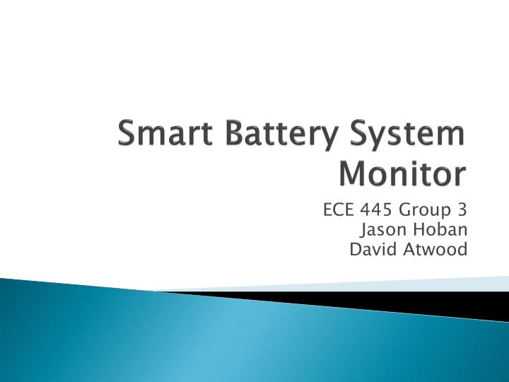 smart battery system monitor n.