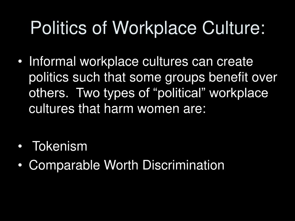 Politics of Workplace Culture: