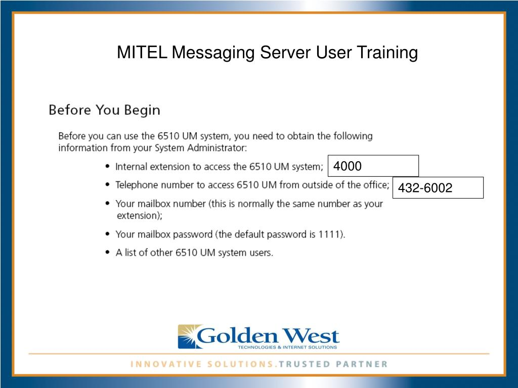PPT - Mitel 3300 ICP Telephone Training PowerPoint Presentation - ID