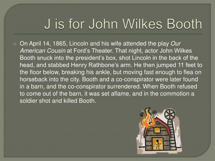 J is for John Wilkes Booth