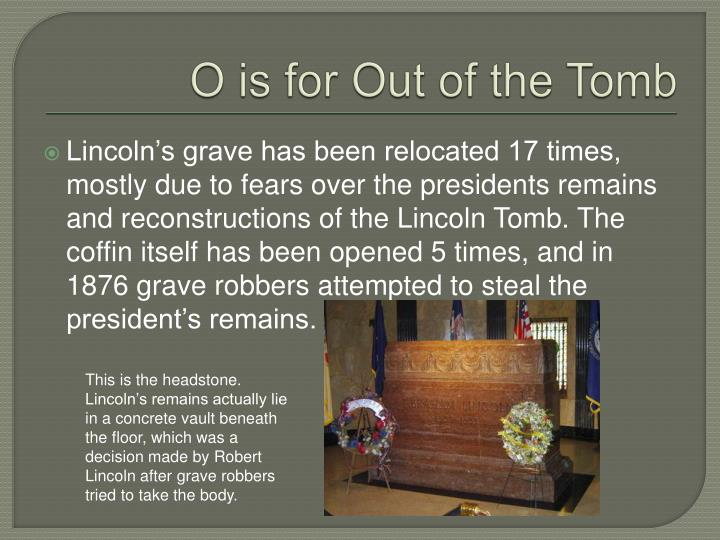 O is for Out of the Tomb