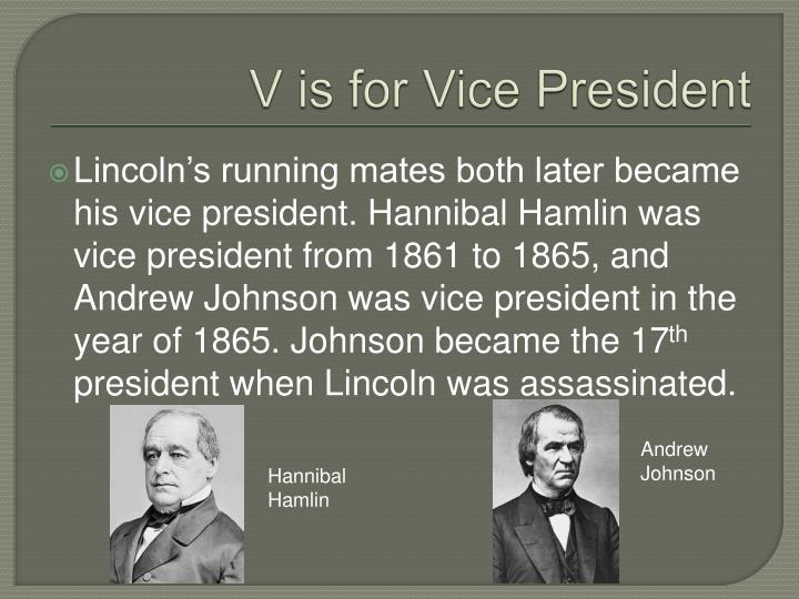 V is for Vice President