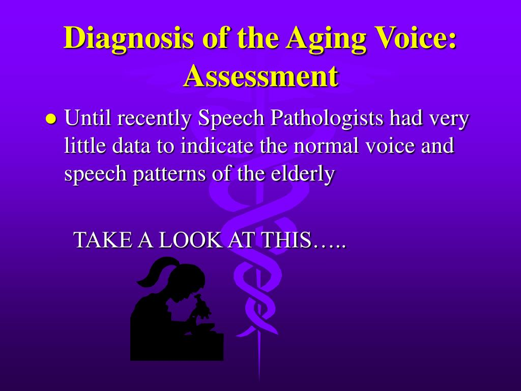 Diagnosis of the Aging Voice: Assessment