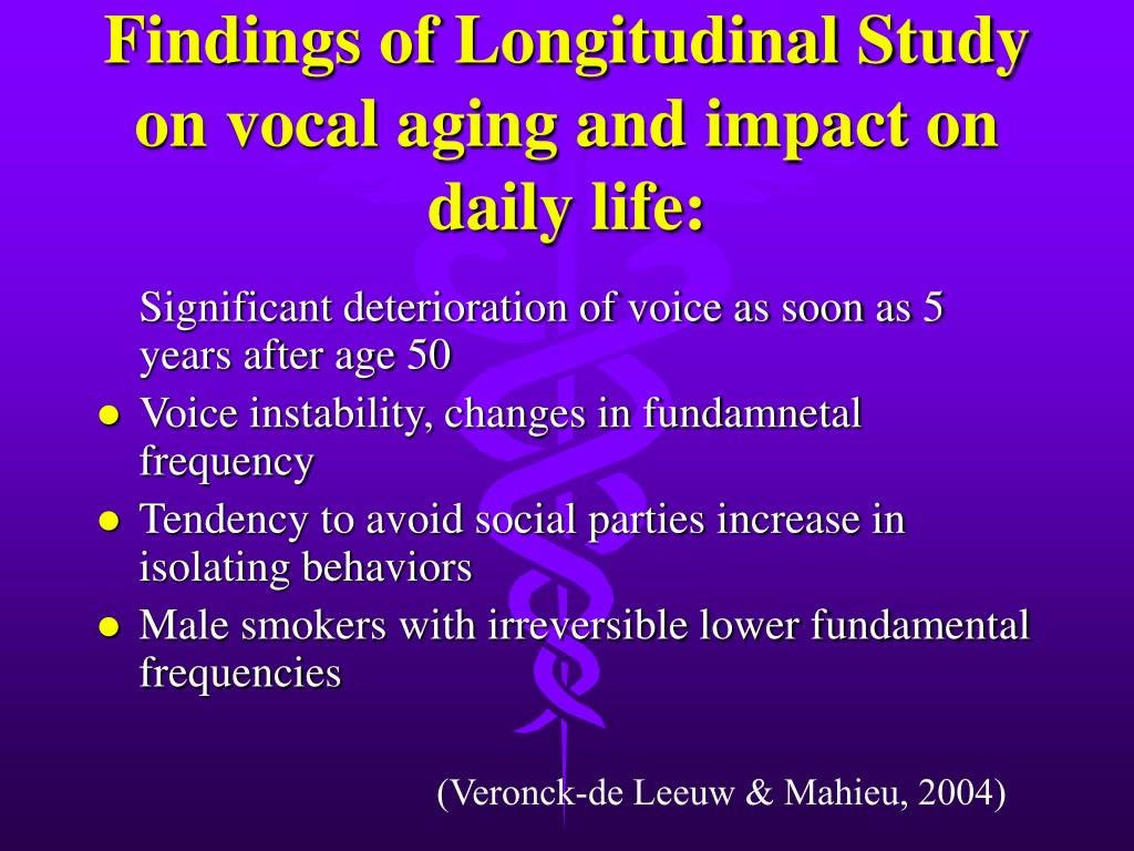 Findings of Longitudinal Study on vocal aging and impact on daily life: