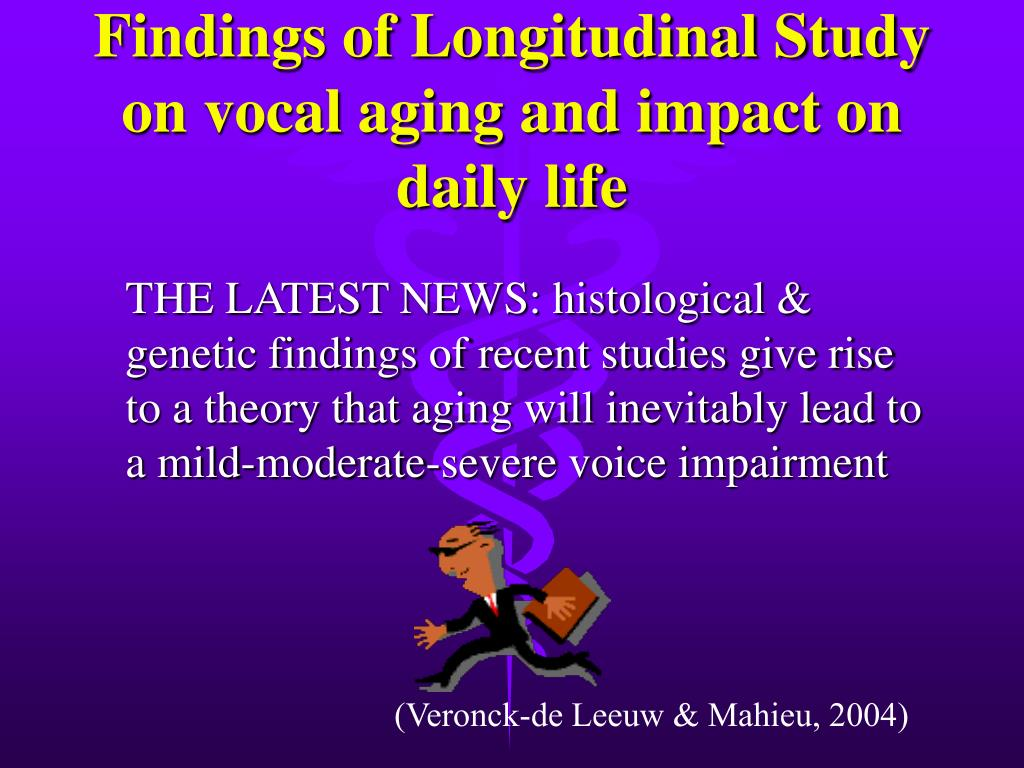 Findings of Longitudinal Study on vocal aging and impact on daily life