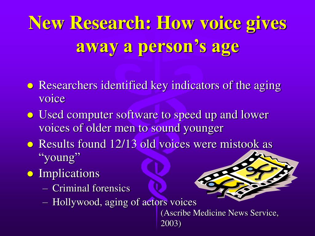 New Research: How voice gives away a person's age