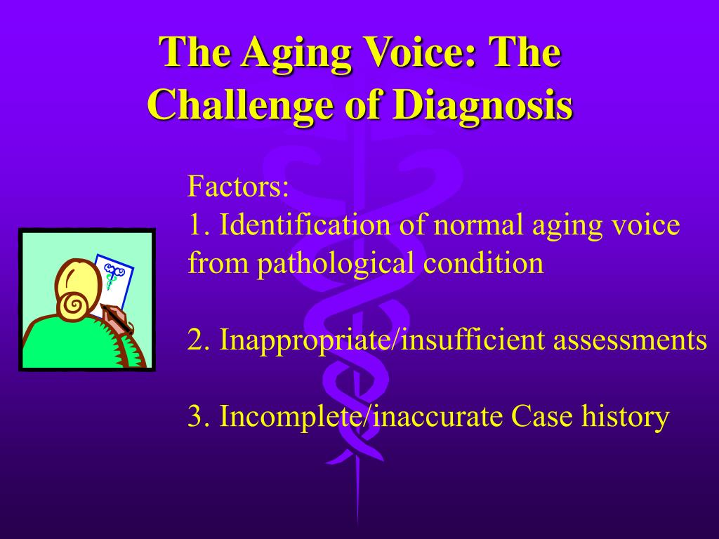 The Aging Voice: The Challenge of Diagnosis