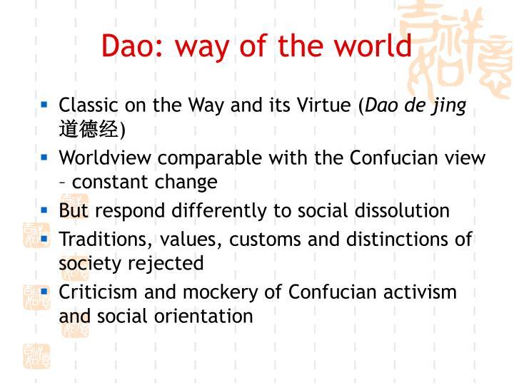 Dao way of the world