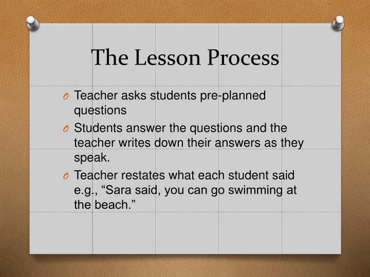 The Lesson Process
