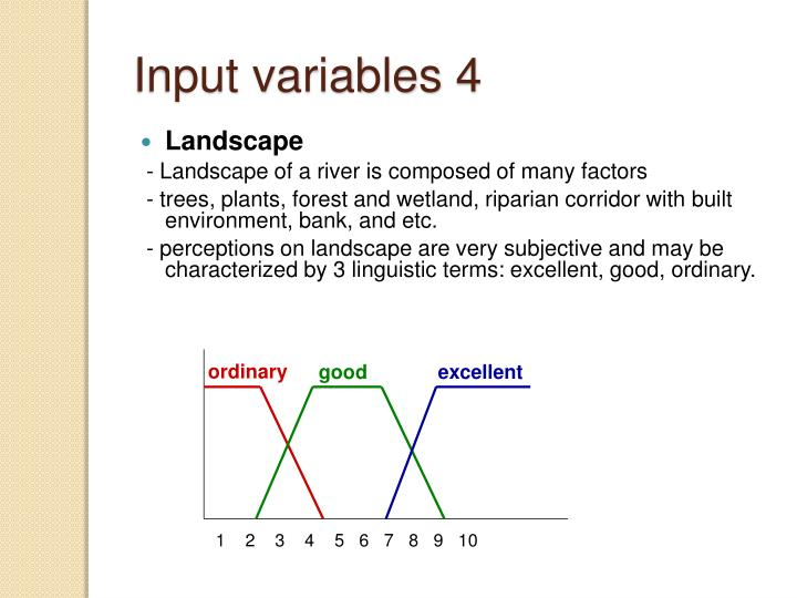 Input variables 4