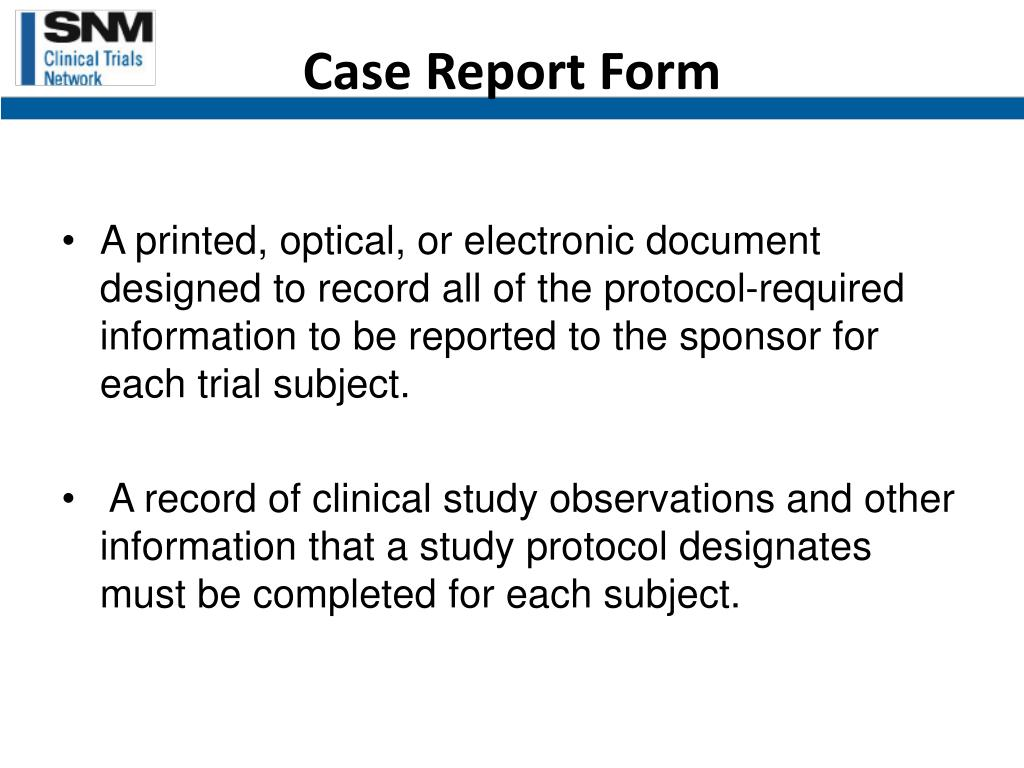 Case Report Form
