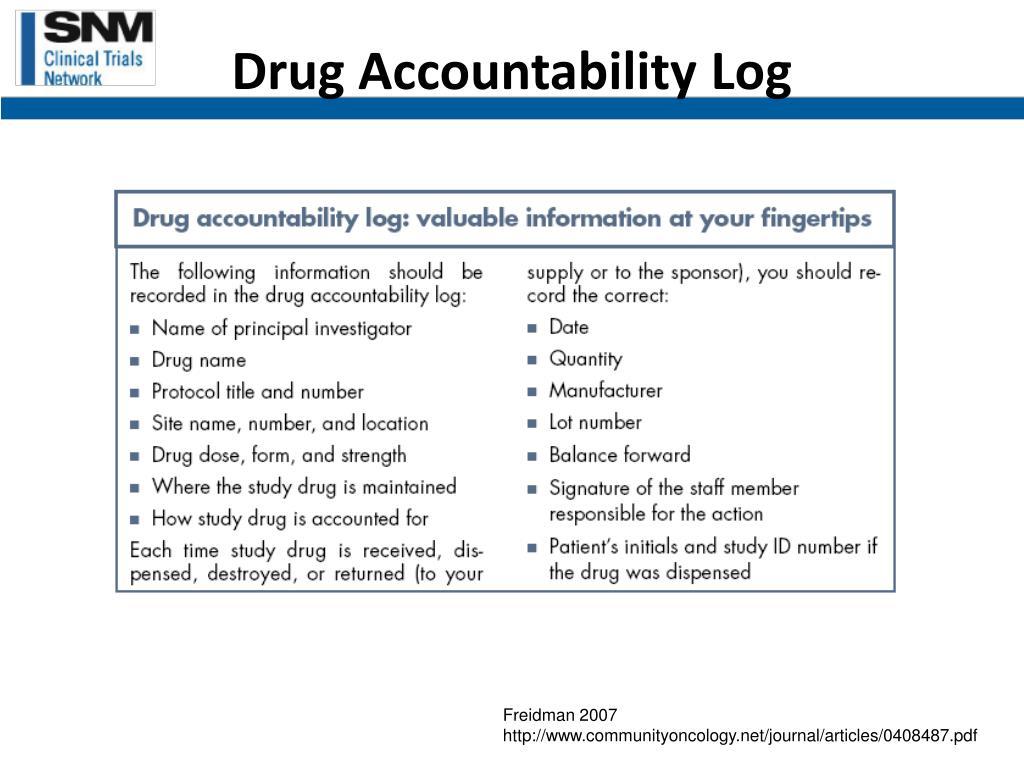 Drug Accountability Log