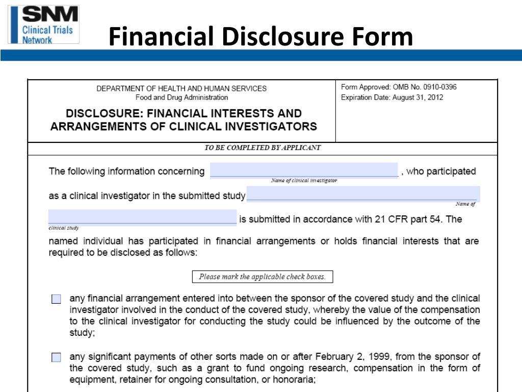 Financial Disclosure Form