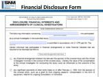 financial disclosure form