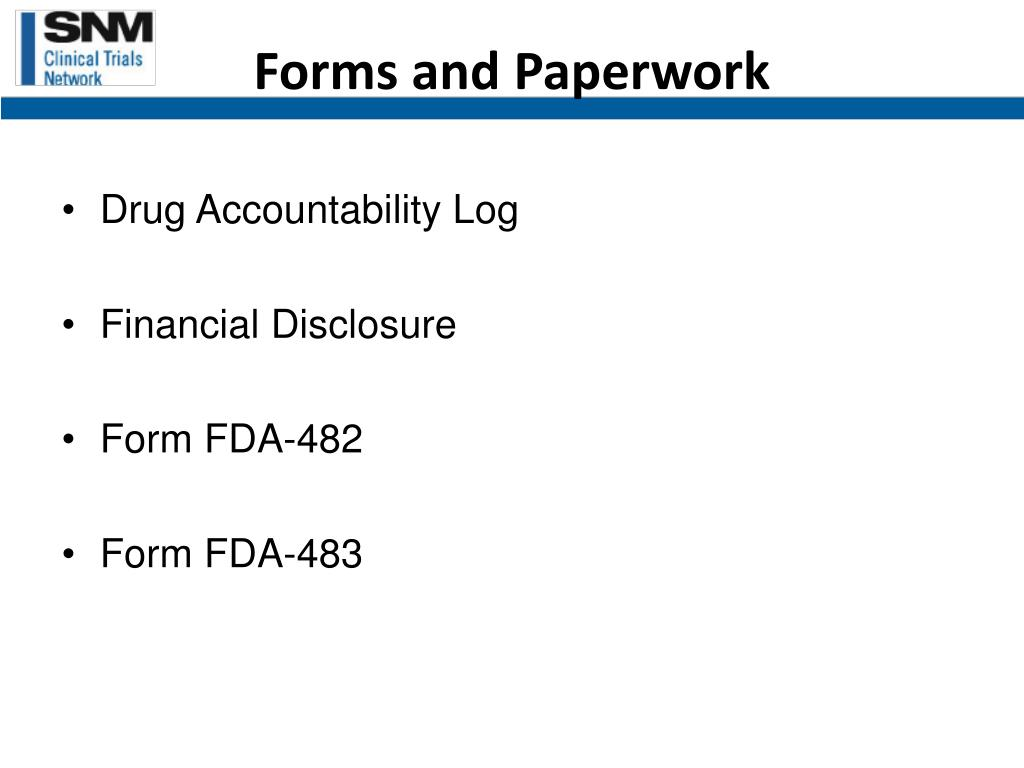 Forms and Paperwork