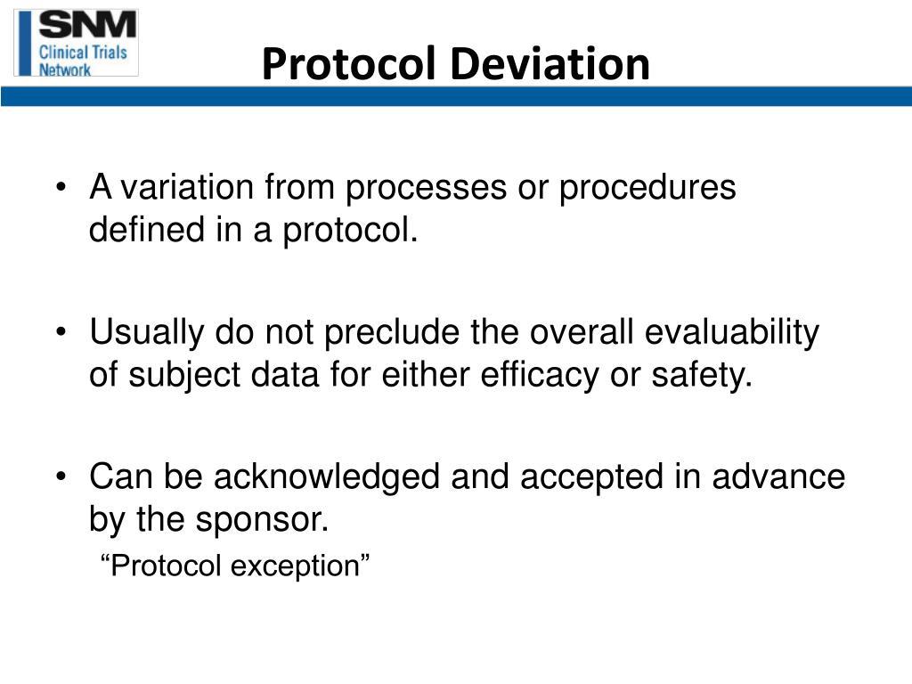 Protocol Deviation