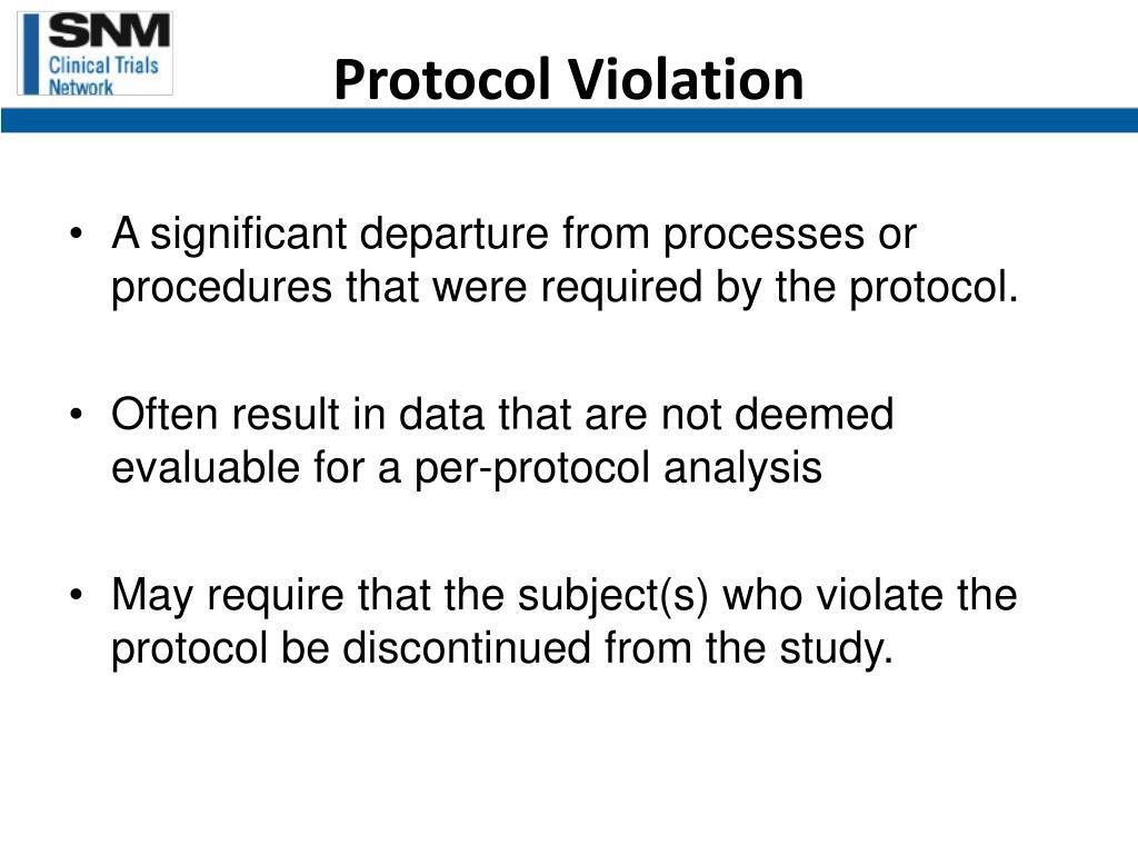 Protocol Violation