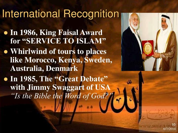 International Recognition