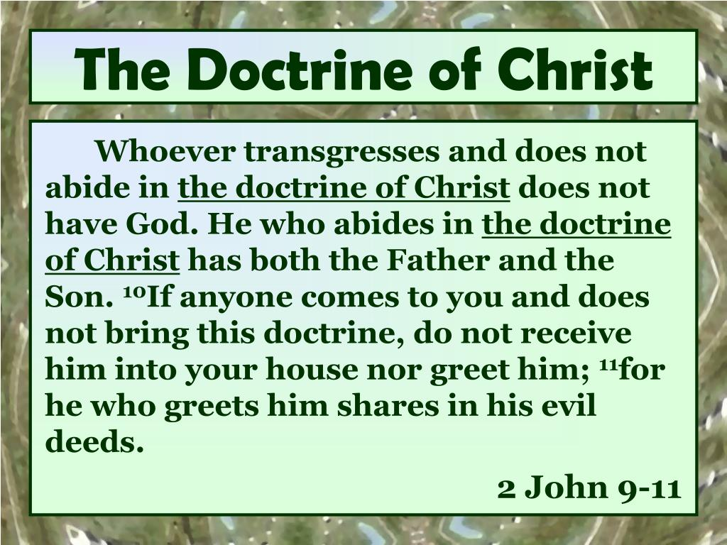 the doctrine of christ l.