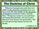 the doctrine of christ