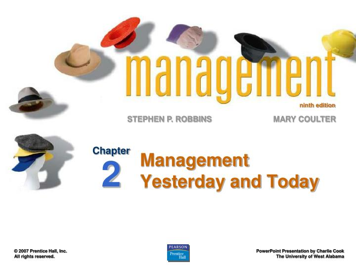 management yesterday and today n.