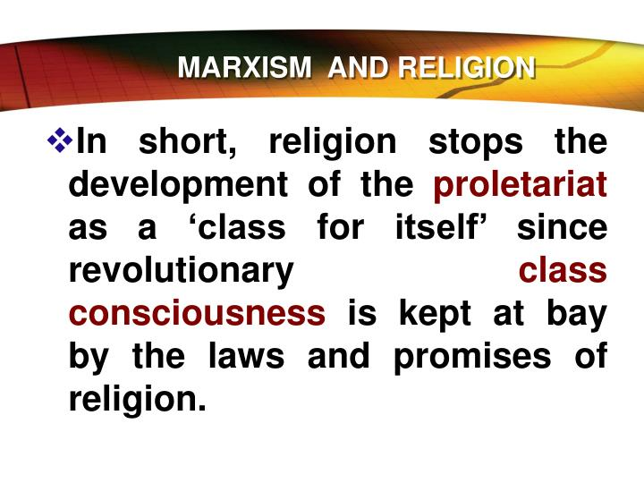 MARXISM  AND RELIGION