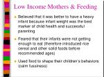 low income mothers feeding