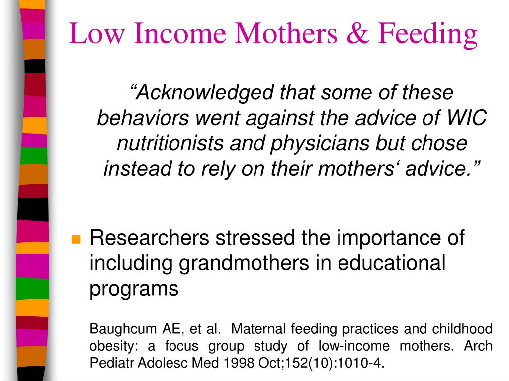 Low Income Mothers & Feeding