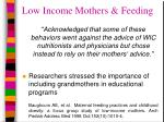 low income mothers feeding15