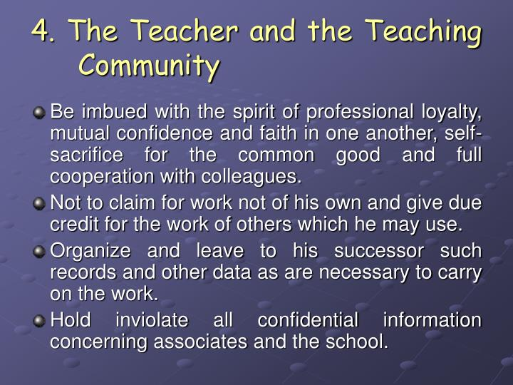 Captivating 4. The Teacher And The Teaching Community